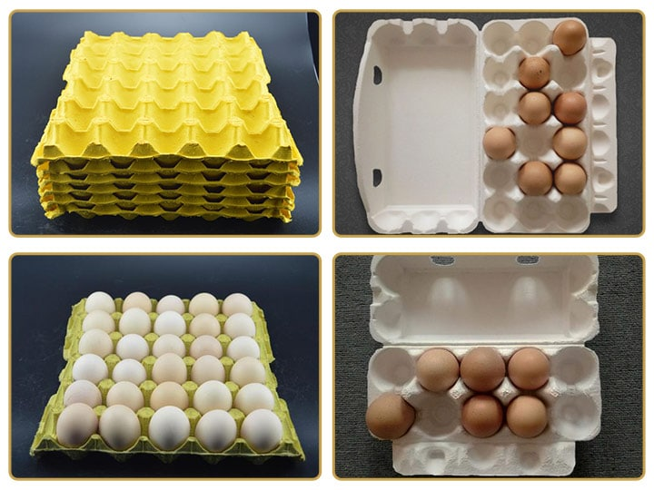 egg trays with different specifications