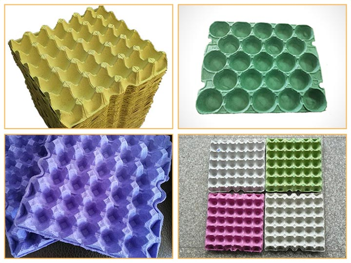 arious egg trays can be made with the egg tray making plant